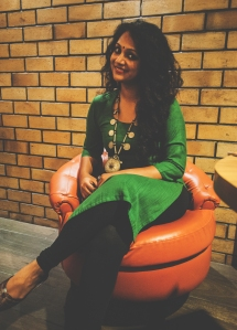 Look 1 : A day at work Basic Green Kurta with Black leggings
