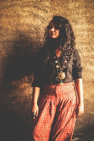 Look 2: An evening coffee Black Linen shirt: Cotton World Palazzos: FabIndia