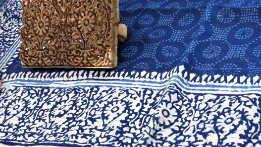 Block printing and indigo