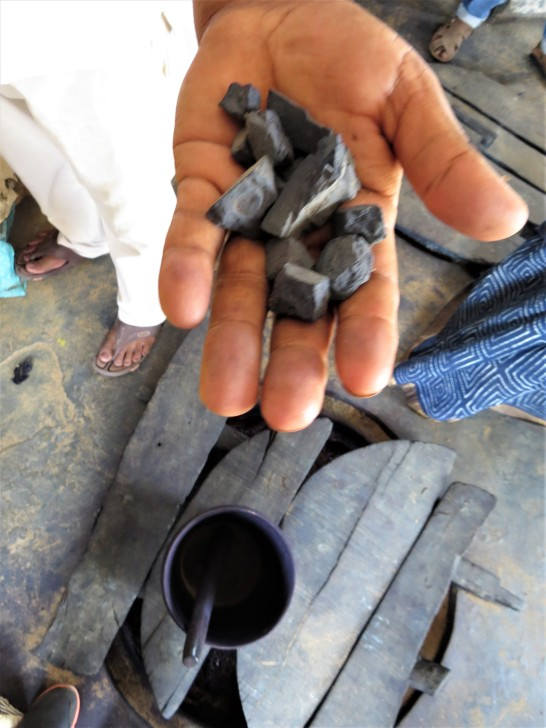 Indigo clay and bucket for dyeing